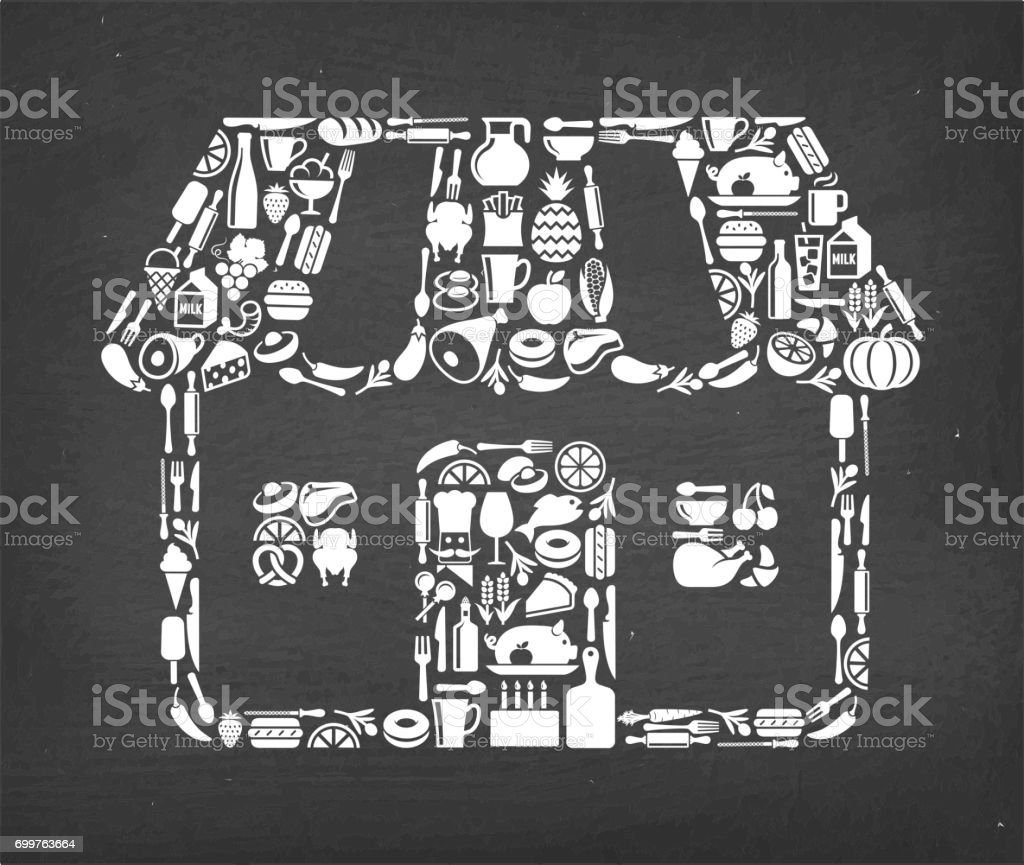 Grocery Store Food & Drink royalty free vector icon pattern. This...
