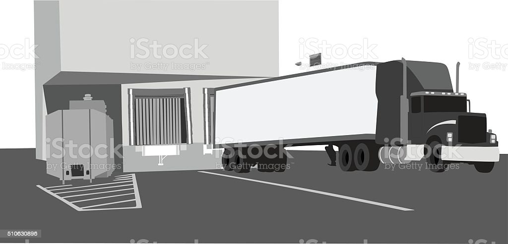 Grocery Store Receiving vector art illustration