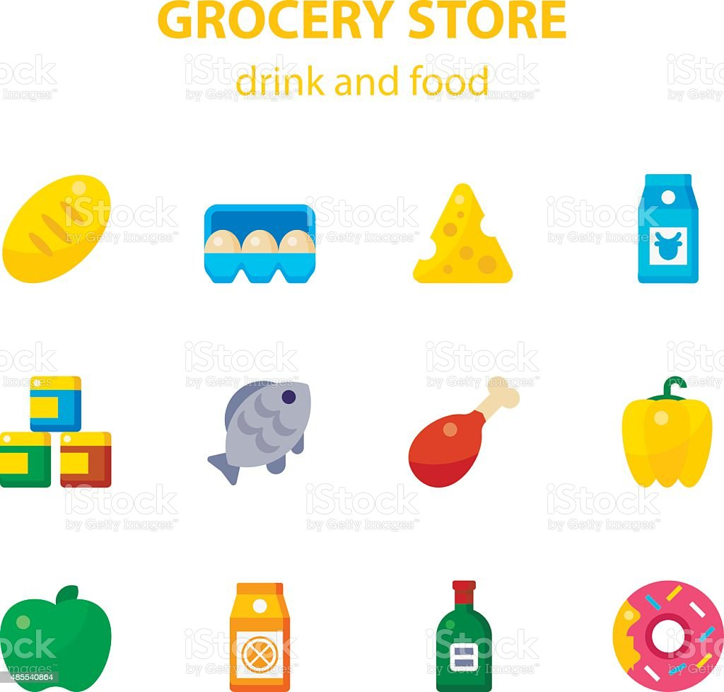 Grocery Store vector art illustration