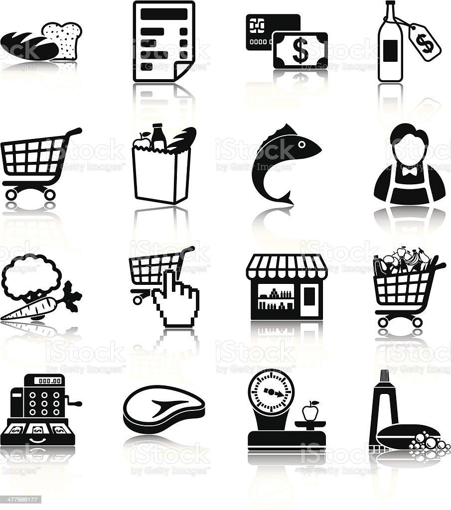 Grocery vector art illustration