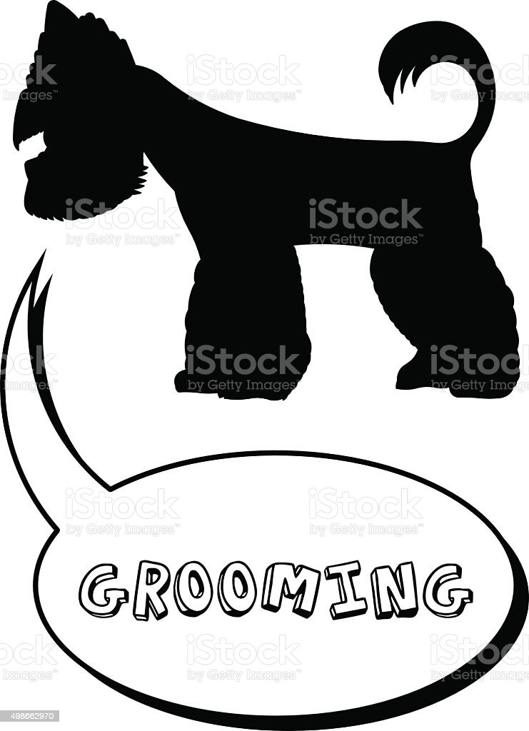 Grooming 4 vector art illustration
