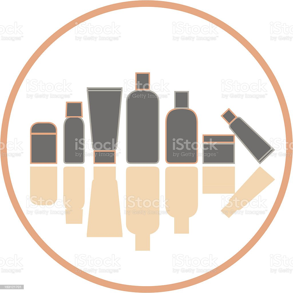 Grooming Silhouettes vector art illustration
