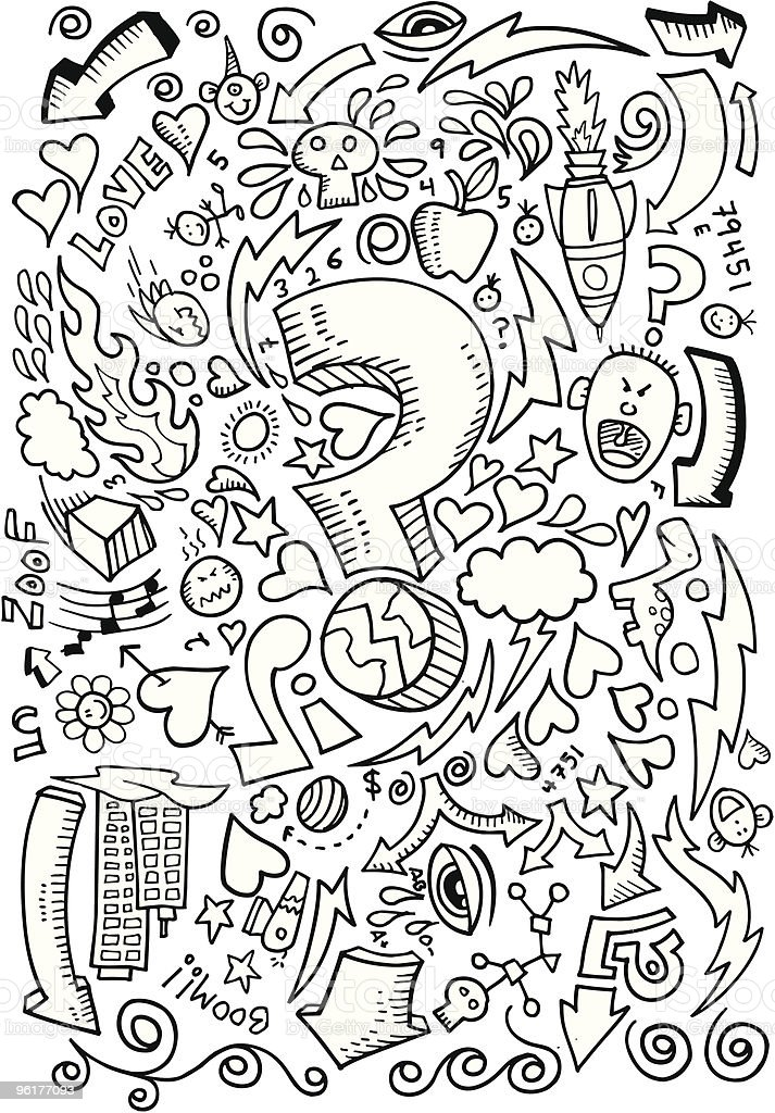 Groovy Doodle Page royalty-free stock vector art