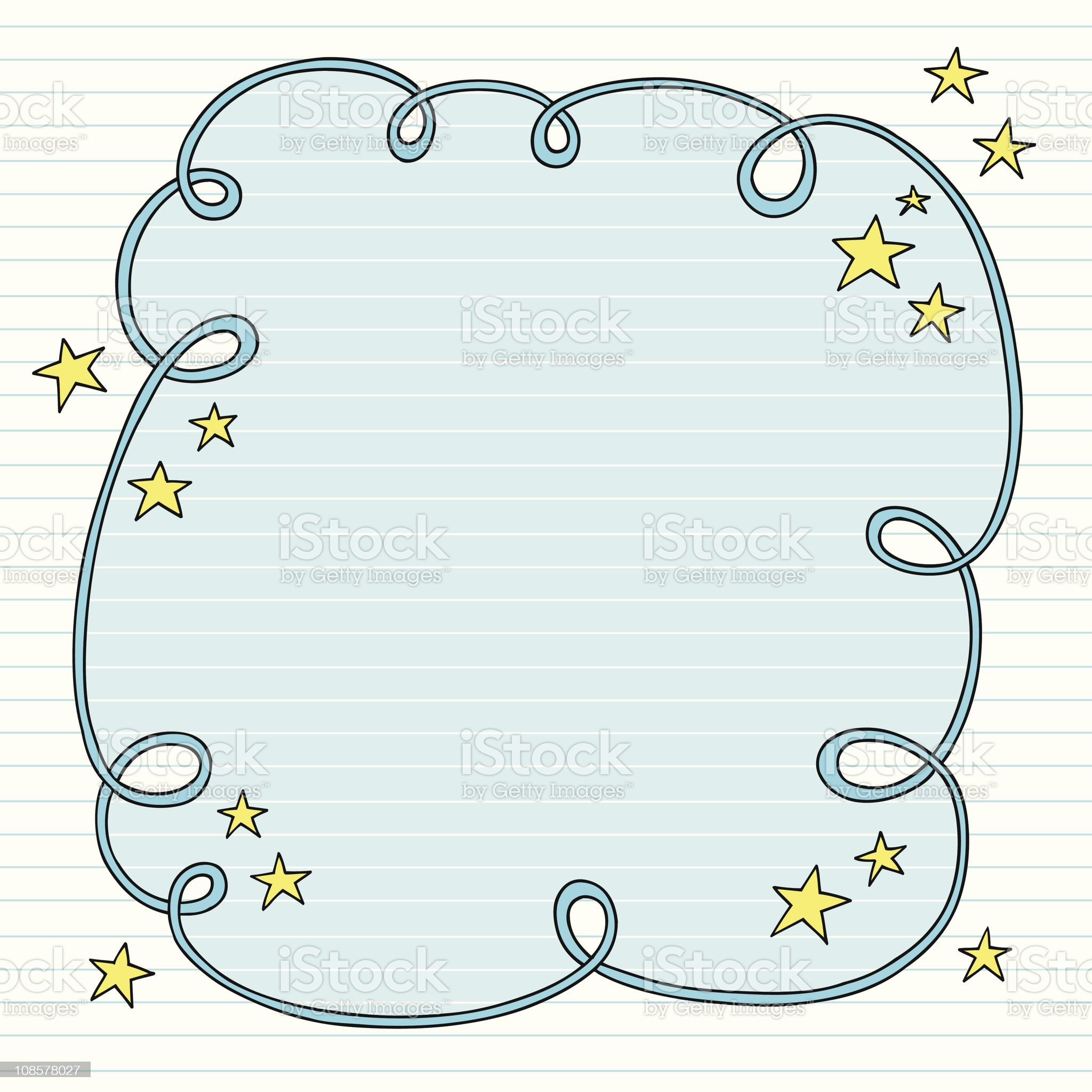 Groovy Notebook Doodle Swirly Border royalty-free stock vector art