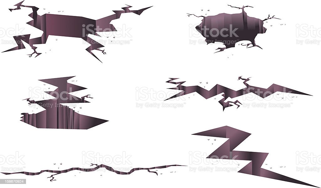 Ground Cracks Vector vector art illustration