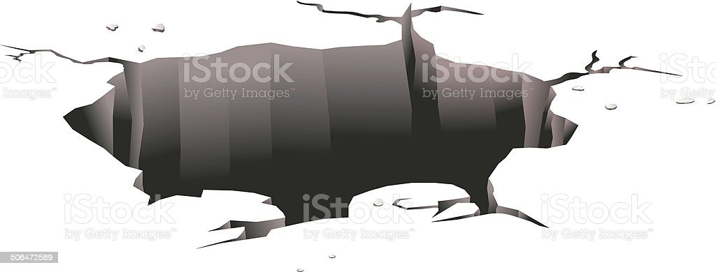 Ground hole vector vector art illustration