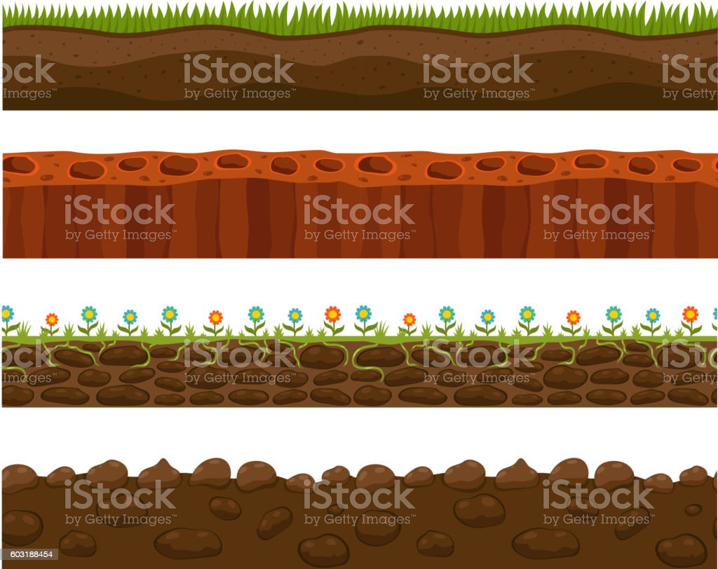 Ground slices vector vector art illustration