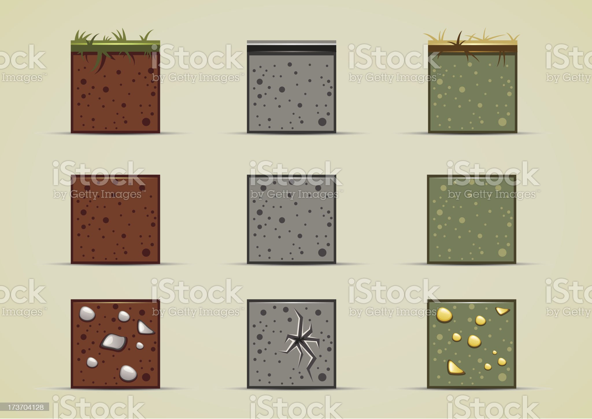 ground sprites collection royalty-free stock vector art