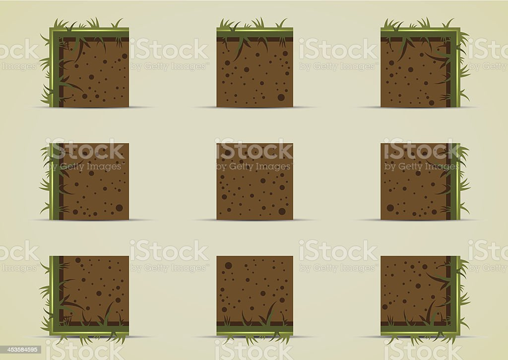Ground sprites with grass royalty-free stock vector art