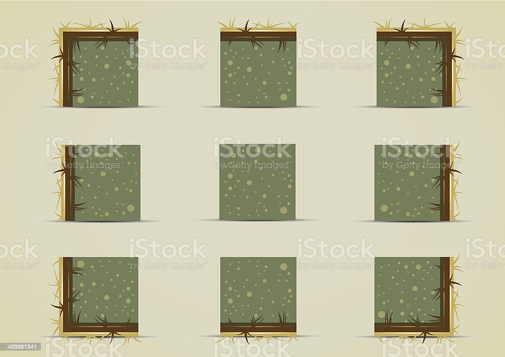 Ground sprites with yellow grass royalty-free stock vector art
