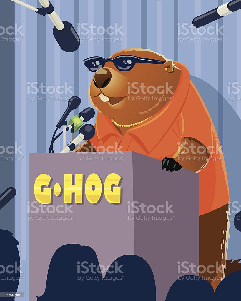 Groundhog Conference royalty-free stock vector art