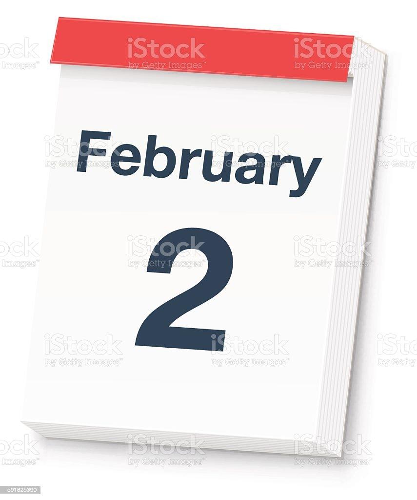 Groundhog Day Calendar vector art illustration