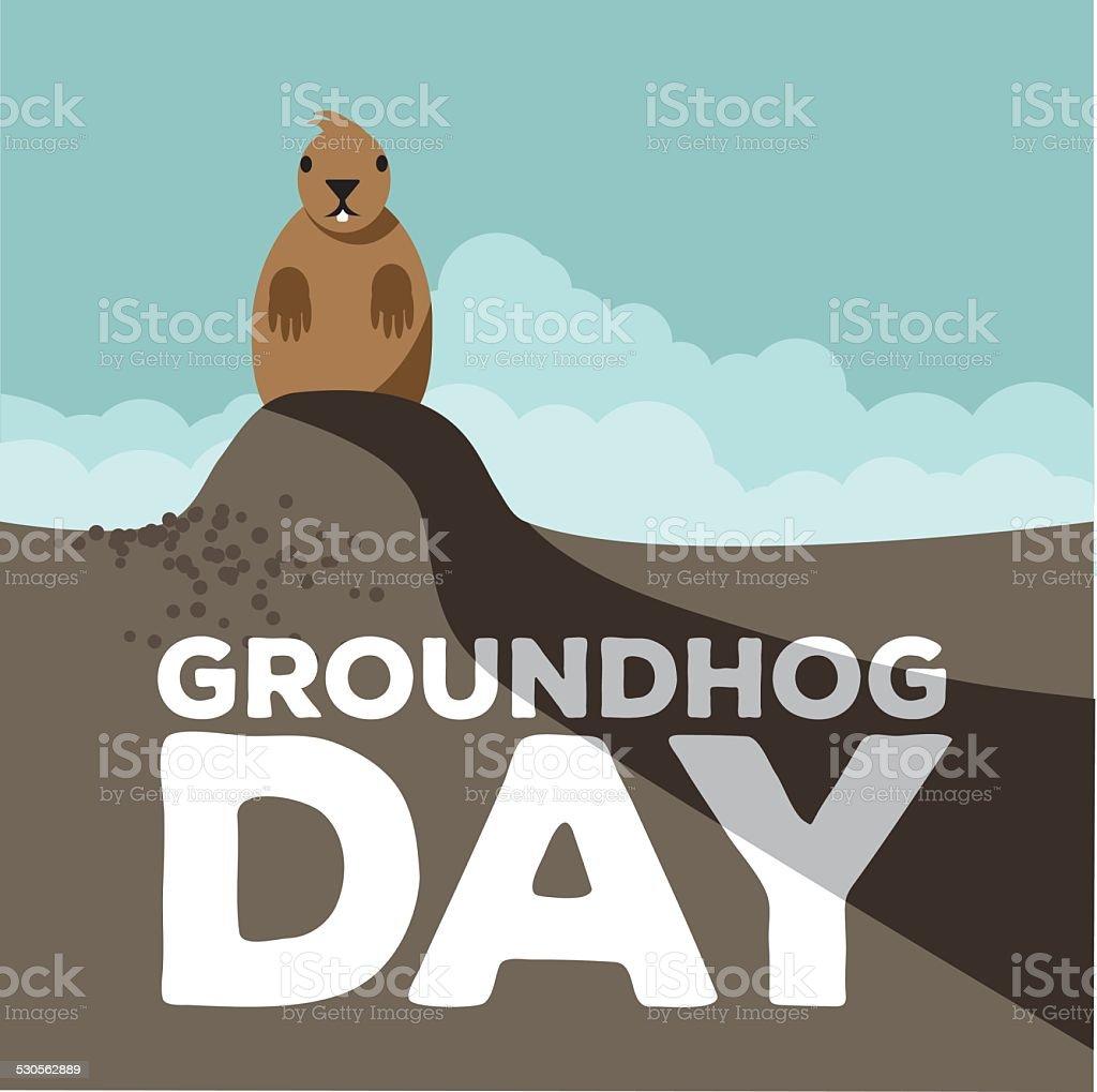 Groundhog Day design vector art illustration