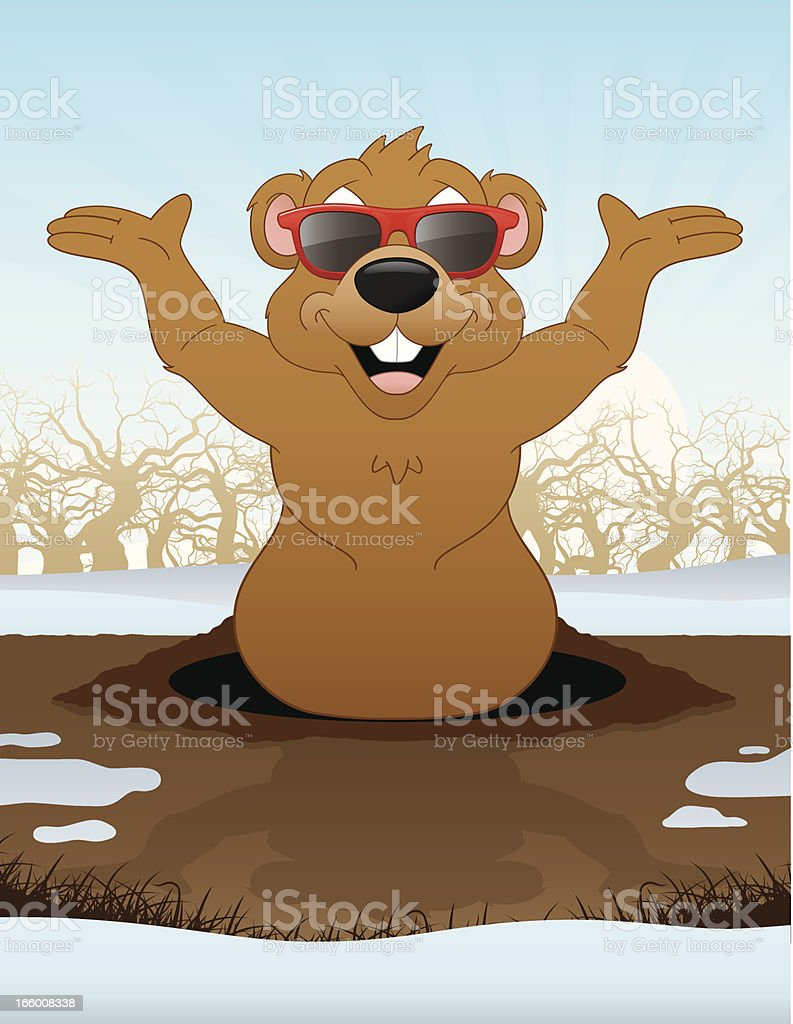 Groundhog Day royalty-free stock vector art