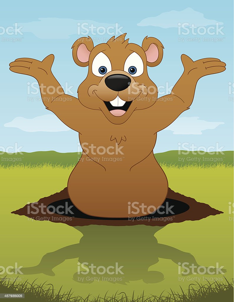 Groundhog royalty-free stock vector art
