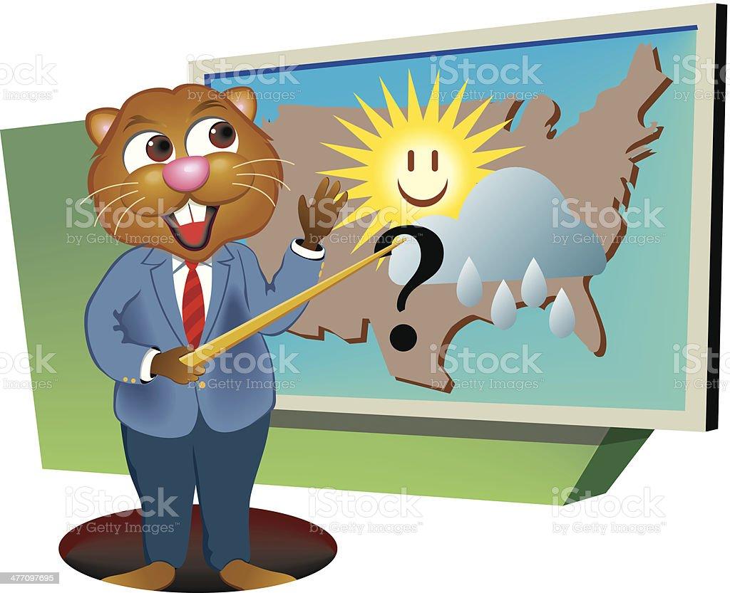Groundhog Weatherman royalty-free stock vector art