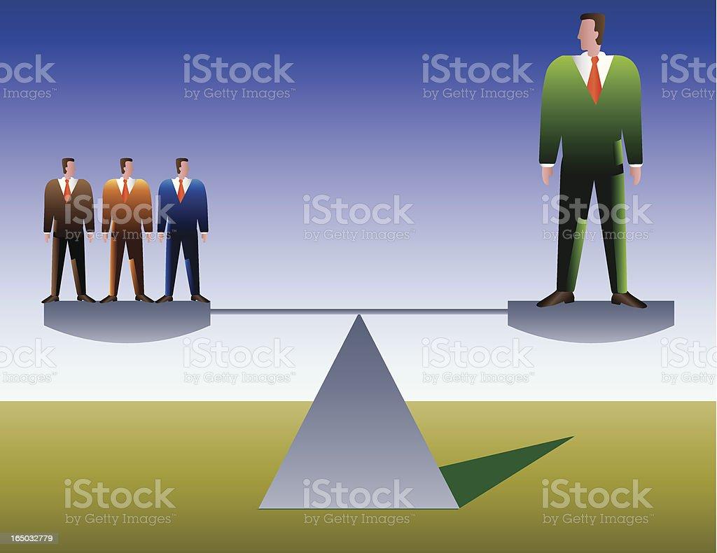 group balance vector art illustration