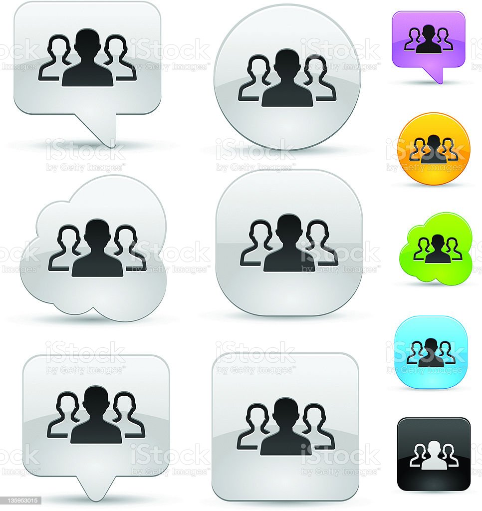 Group icon set royalty-free stock vector art