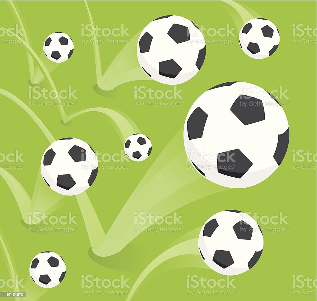 Group of bouncing soccer balls royalty-free stock vector art