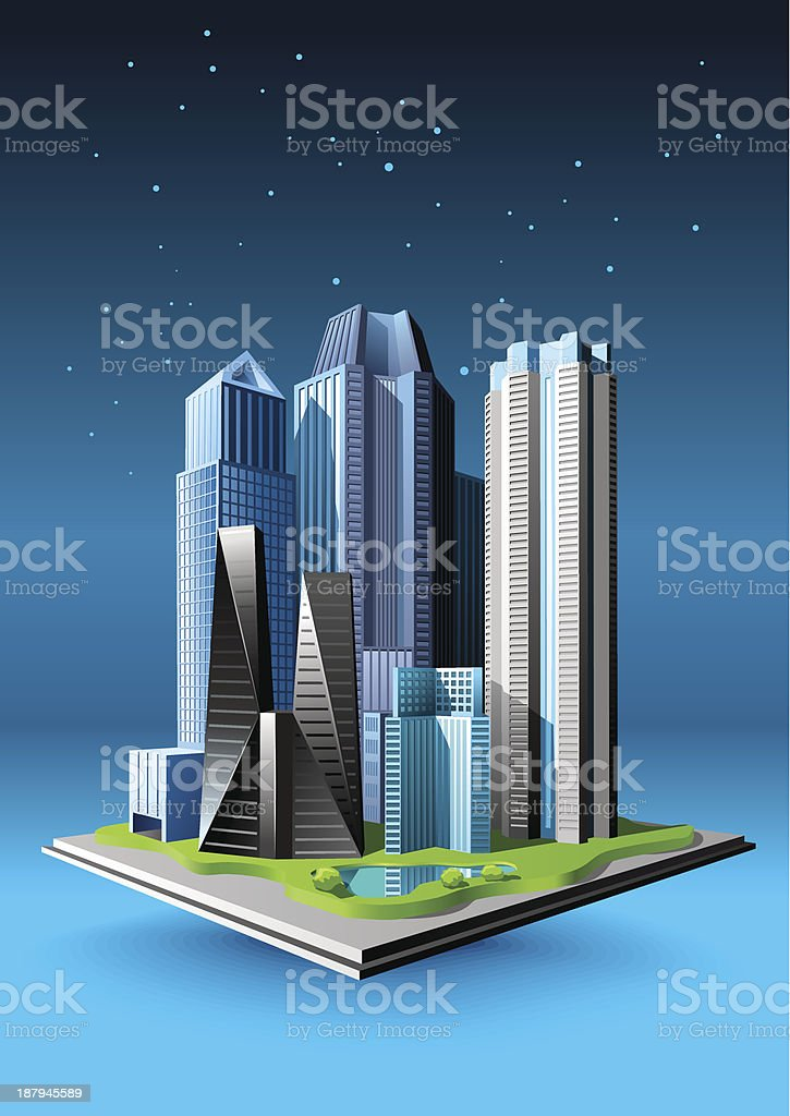 Group of buildings royalty-free stock vector art