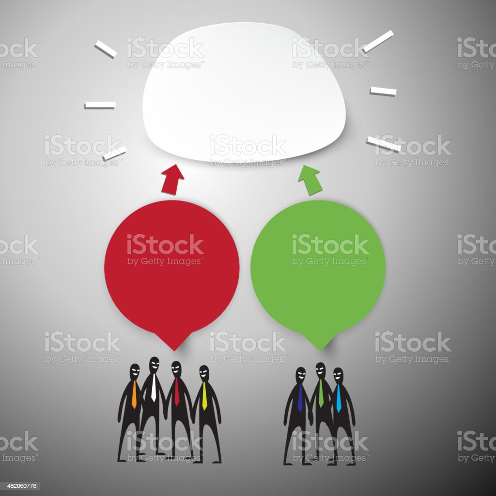 Group of Business People Brainstorming. vector art illustration