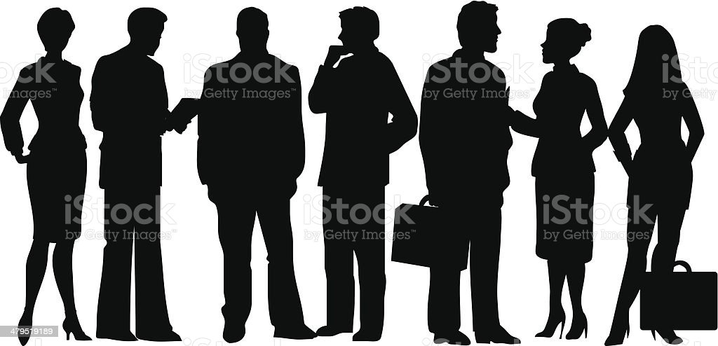 Group of business people royalty-free stock vector art