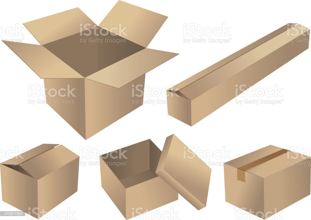 Group of cartons royalty-free stock vector art