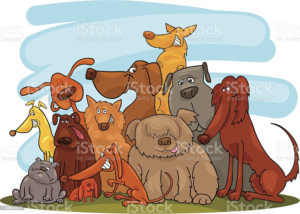 group of dogs royalty-free stock vector art