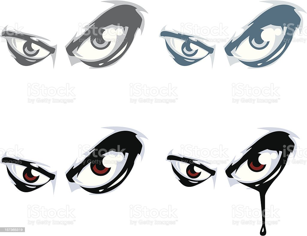 Group of Evil Eyes royalty-free stock vector art