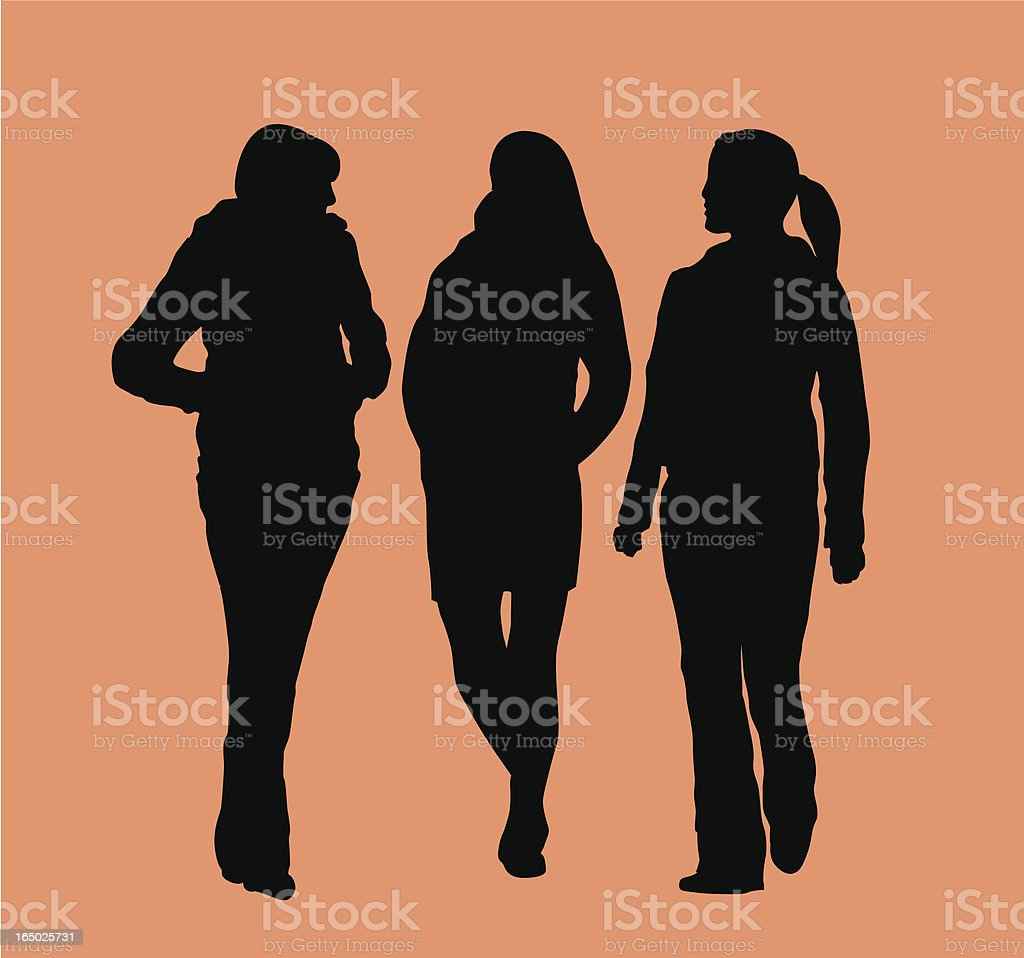 Group of Friends  ( Vector ) royalty-free stock vector art