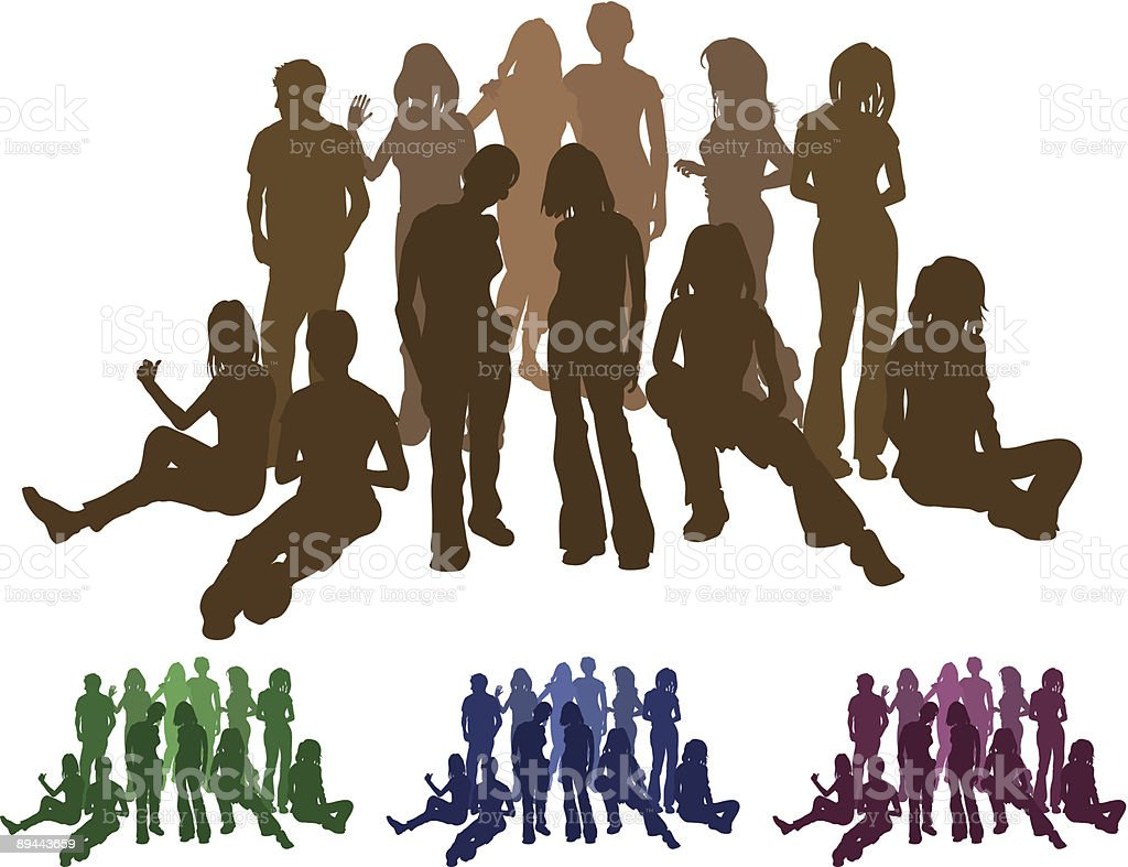 Group of friends royalty-free stock vector art