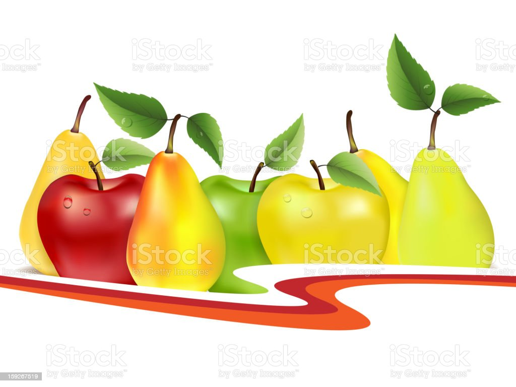 Group of fruits royalty-free stock vector art