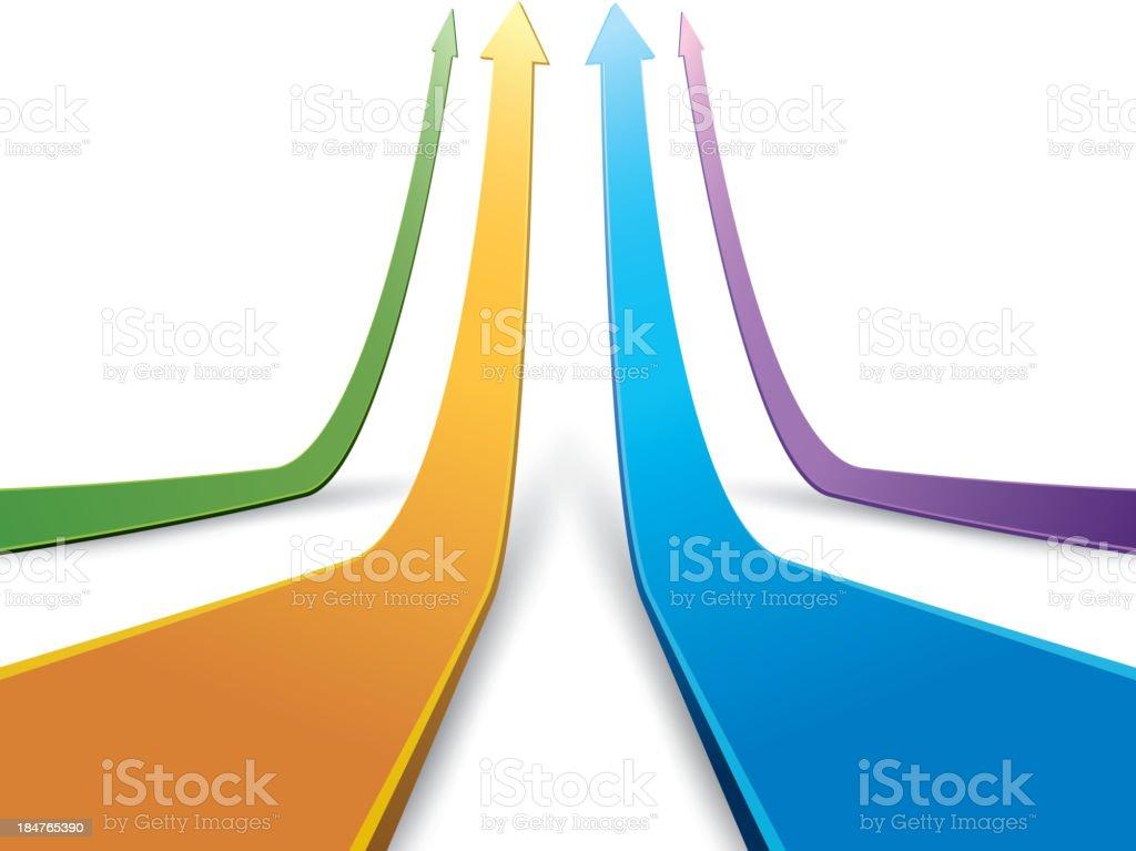Group of improve arrows vector art illustration
