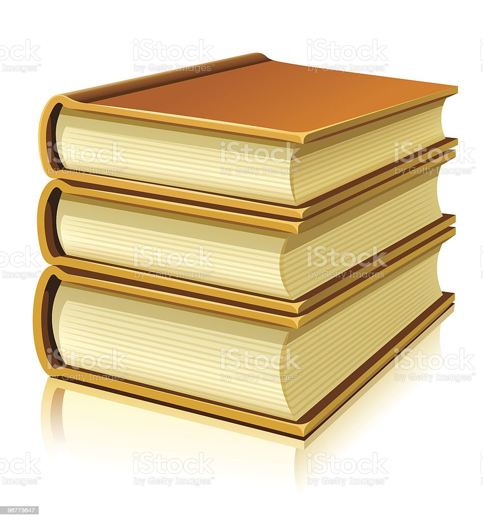 group of paper books with blank cover royalty-free stock vector art