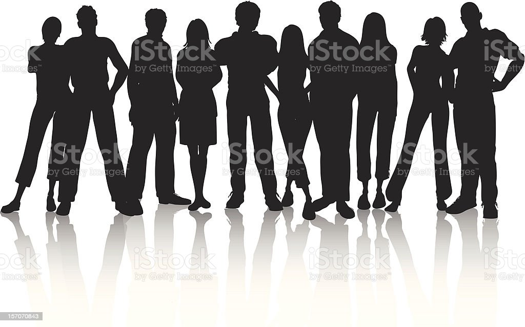 Group of people royalty-free stock vector art