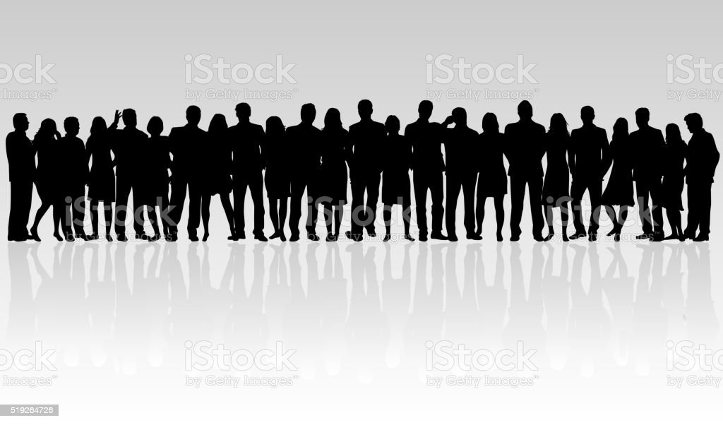 Group of people. vector art illustration