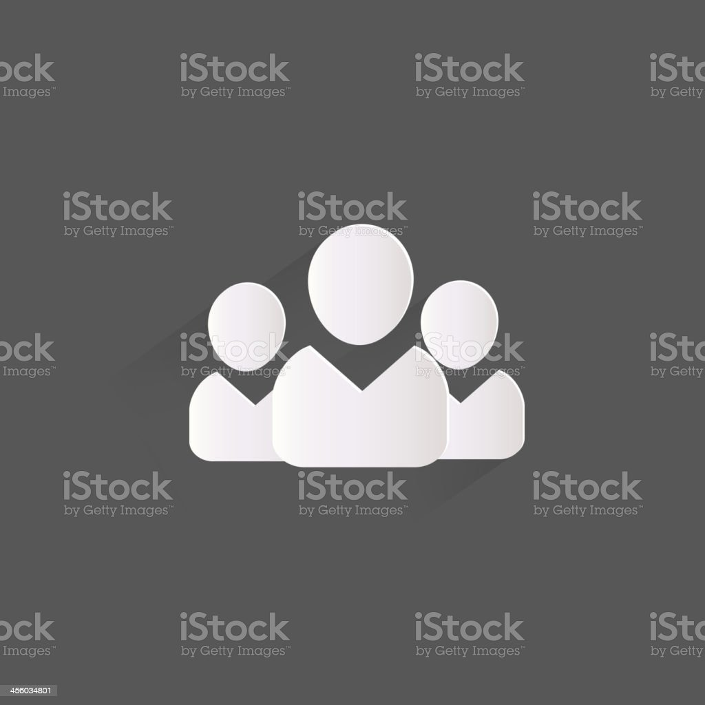 Group of people web icon vector art illustration