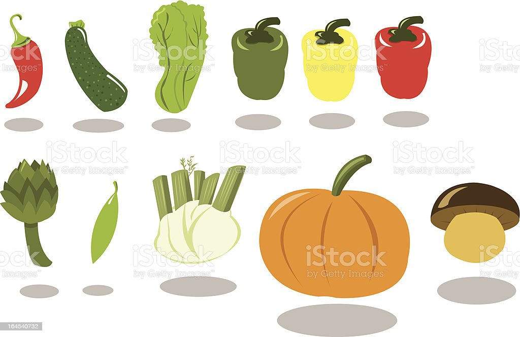 Group of Vegetables part 2 royalty-free stock vector art