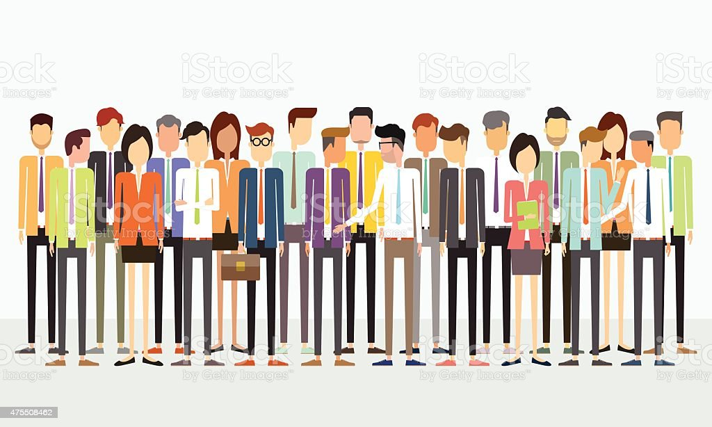 group people business team concept vector art illustration