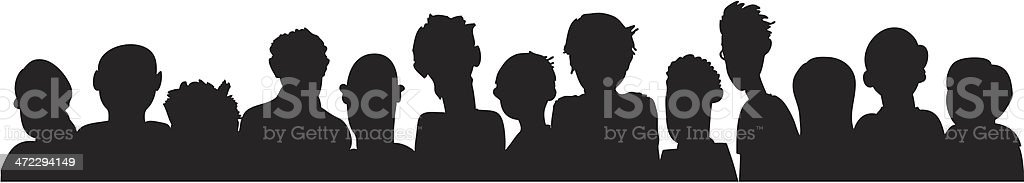 Group Silhouette royalty-free stock vector art
