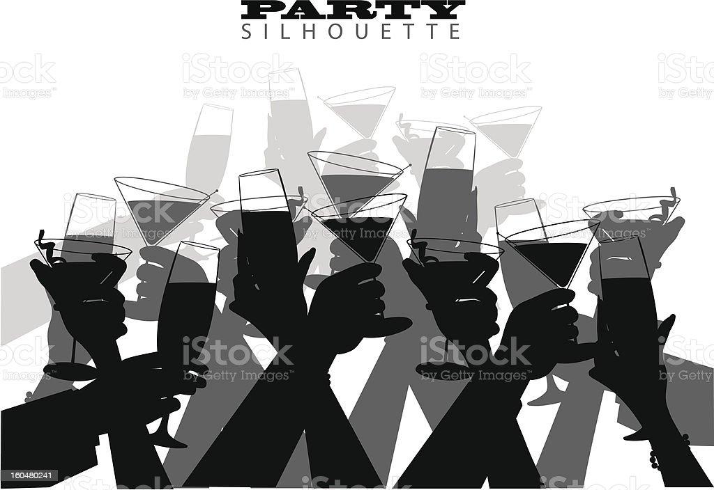 Group Toast vector art illustration