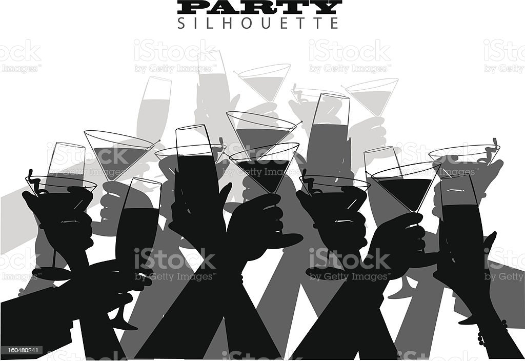 Group Toast vector art illustration