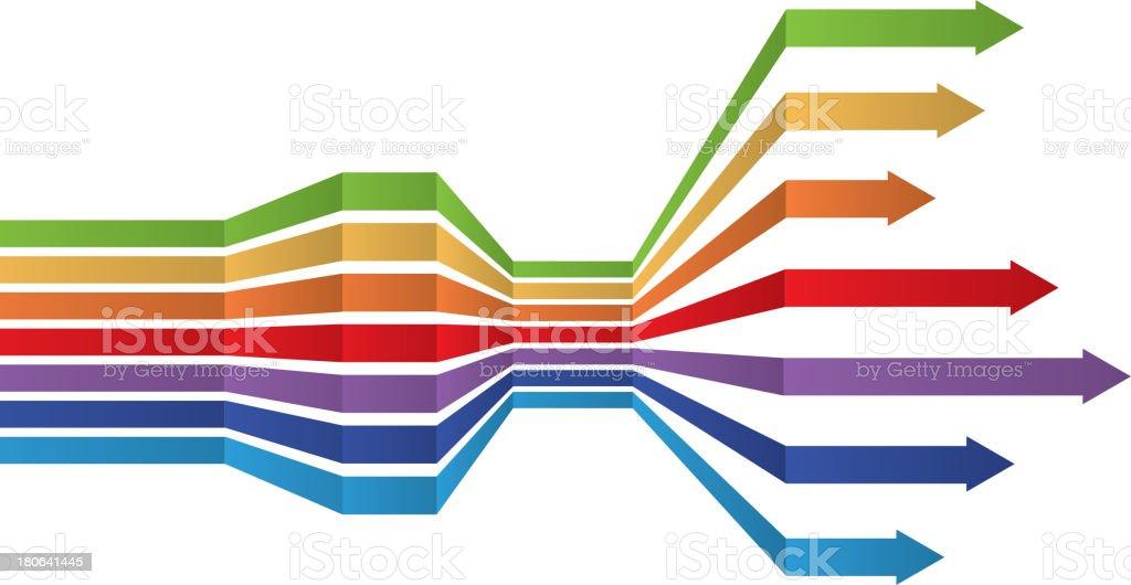 Groups of arrows vector art illustration