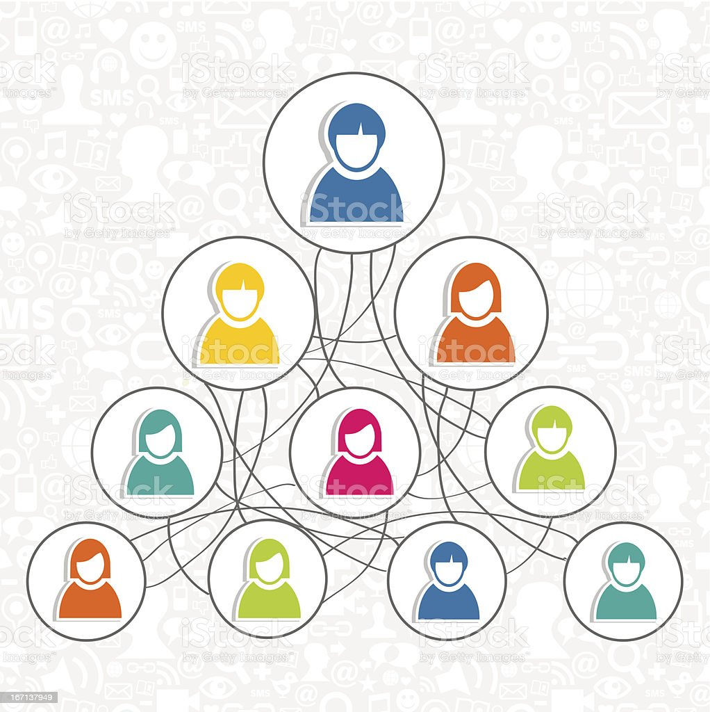 Groups of people for social networks royalty-free stock vector art