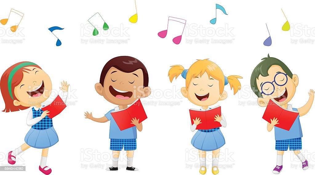 Kids Singing Clipart Groups Of Schoo...