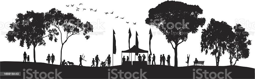 Groups Vector Silhouette vector art illustration