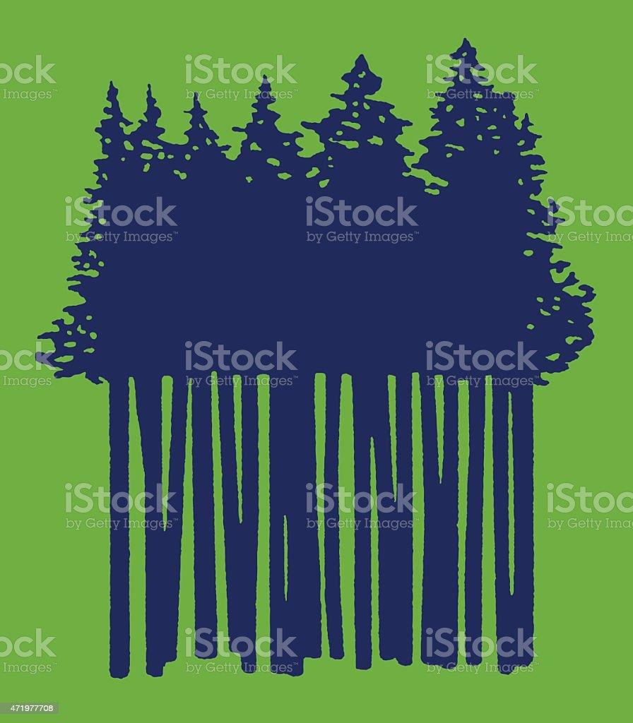 Grove of Trees vector art illustration