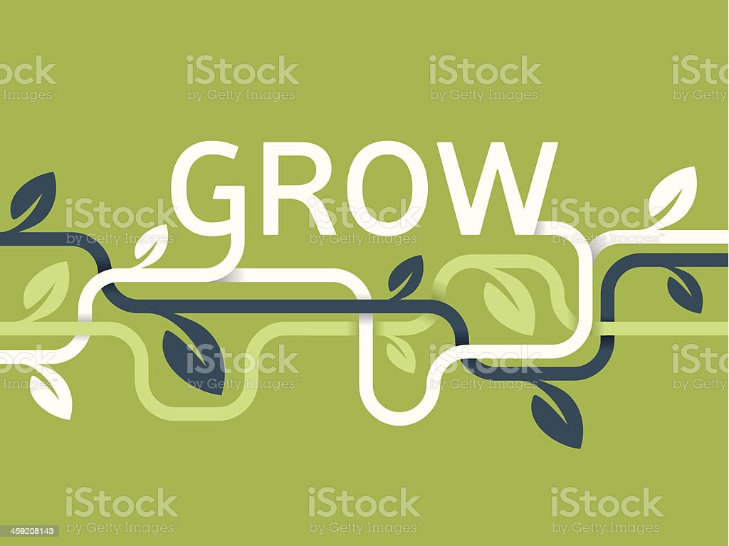 Grow Vines Background vector art illustration