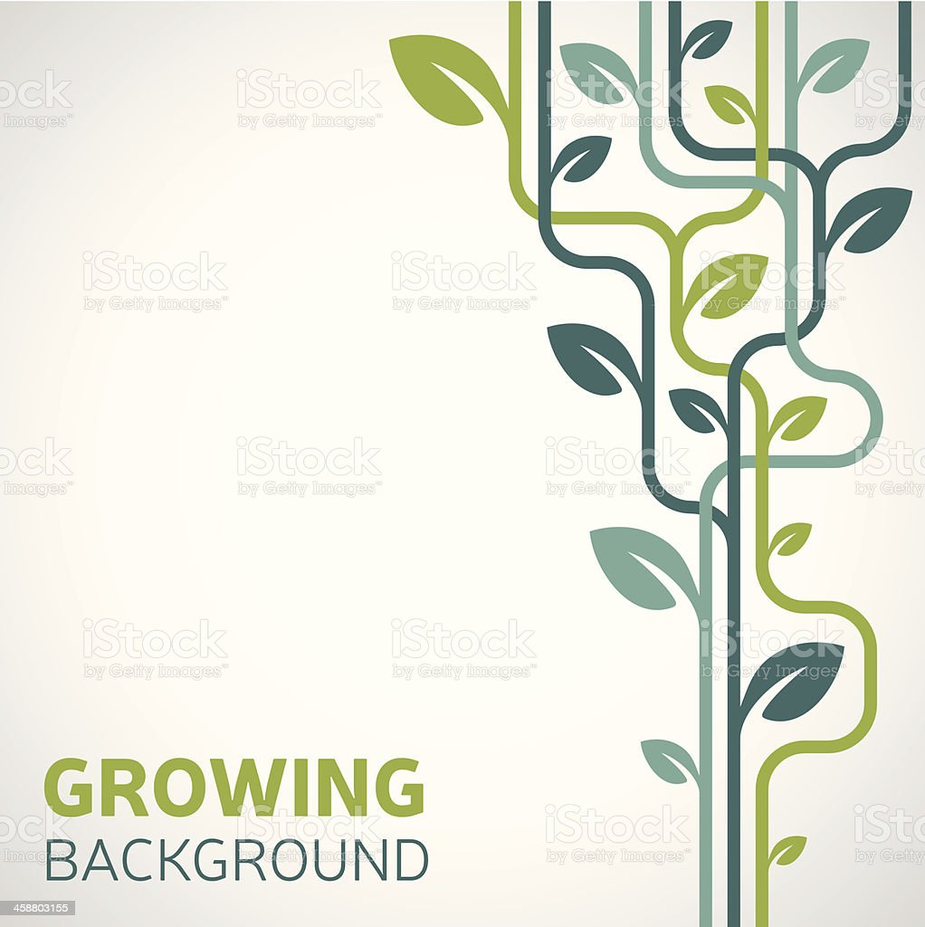 Growing Background vector art illustration