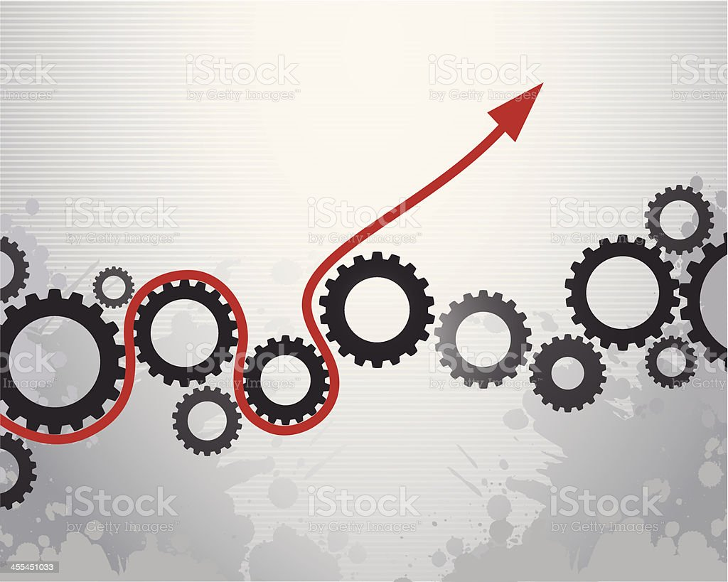 Growing Business Concept vector art illustration